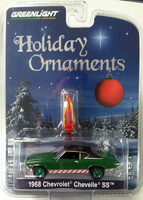 2017 Chevy Chevelle Ss >> Greenlight Holiday Ornaments Series 2 1968 Chevy Chevelle Chase Car