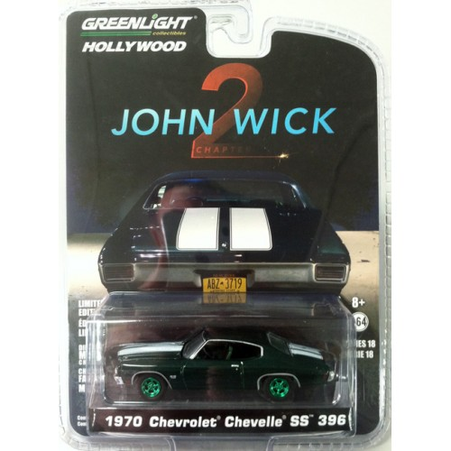 Hollywood Series 18 - 1970 Chevrolet Chevelle SS 396 John Wick Green Machine