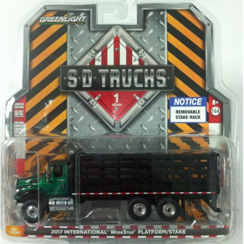 Super Duty Trucks Series 1 - International WorkStar Platform Stake Truck Green Machine
