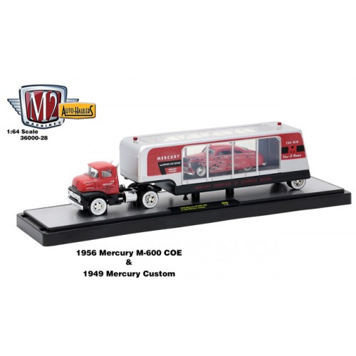 Auto-Haulers Release 28 - 1956 Mercury M-600 with Enclosed Window Trailer