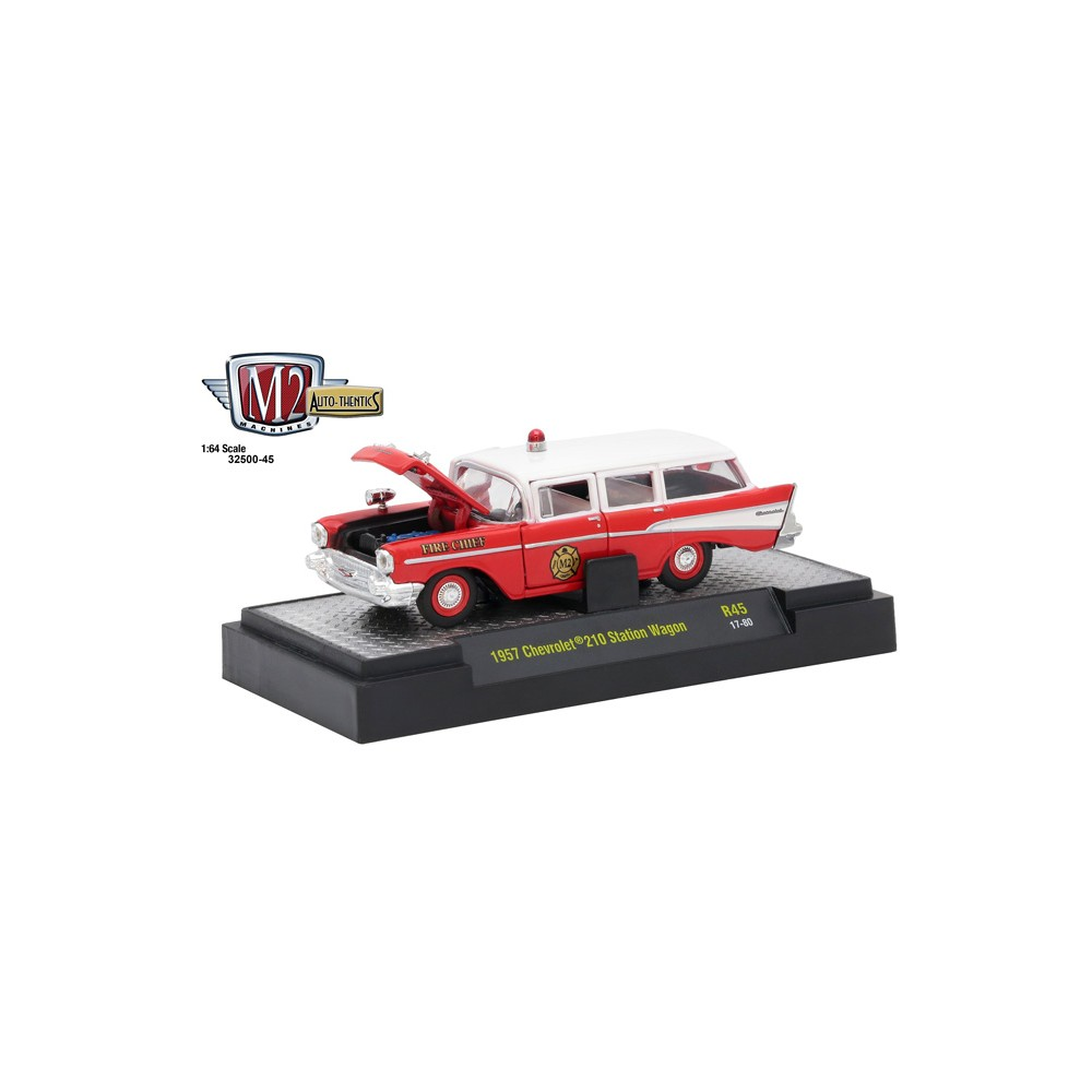 M2 Machines Auto Thentics Release 45 1957 Chevy 210 Station Wagon Fire Chief