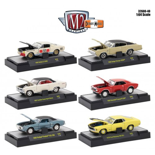 Detroit Muscle Release 40 - Six Car Set
