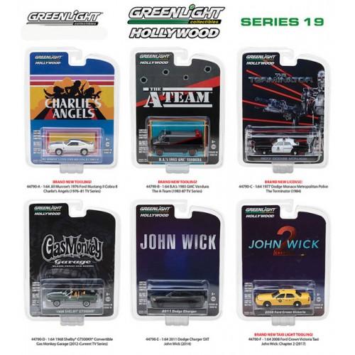 Hollywood Series 19 - Six Car Set