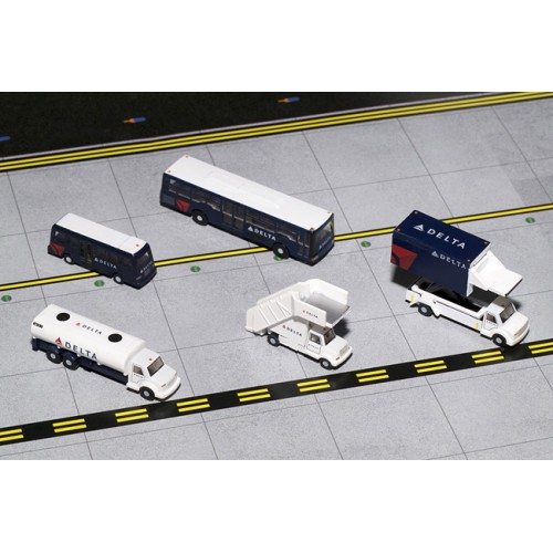 Gemini Jets Airport Service Vehicle Set Delta Airlines