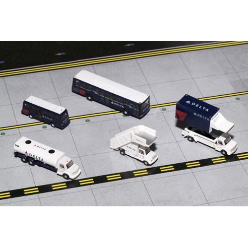 Gemini Jets Airport Service Vehicle Set Delta Airlines