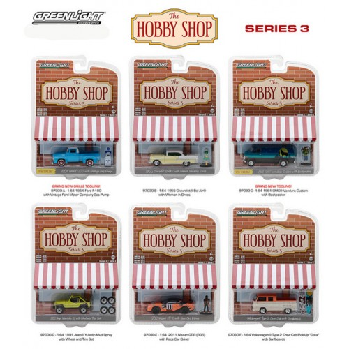 The Hobby Shop Series 3 - Six Car Set