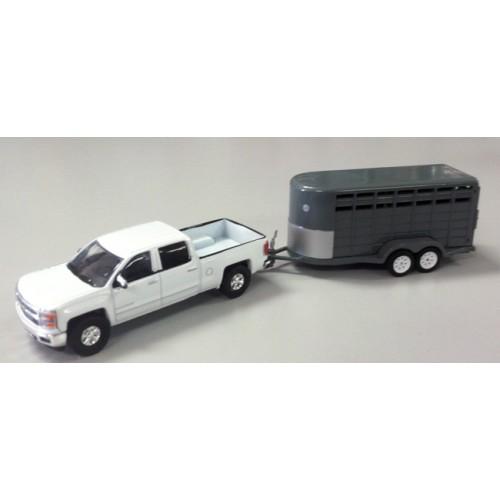 Hitch and Tow - 2014 Chevrolet Silverado and Livestock Trailer