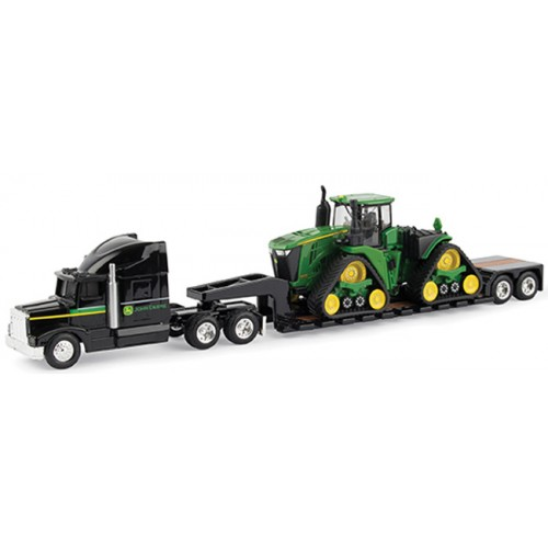 John Deere 9570 RX Tractor with Semi and Lowboy Trailer