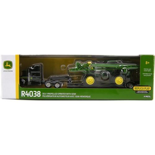 John Deere R4038 Sprayer with Semi and Trailer