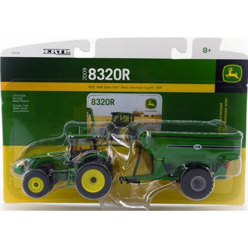 John Deere 8320R Tractor with J&M Grain Cart