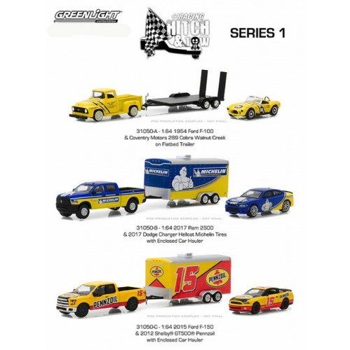 Greenlight Racing Hitch and Tow Series 1 - SET