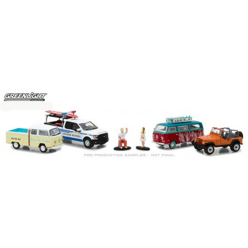 Greenlight Multi Car Diorama - Spring Break Road Trip