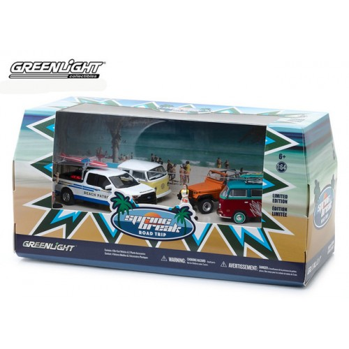 Greenlight Multi Car Diorama - Spring Break Road Trip