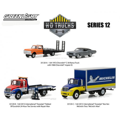 Greenlight HD Trucks Series 12 - SET