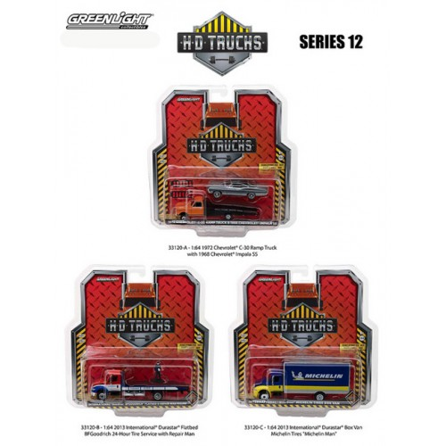 Greenlight HD Trucks Series 12 - SET