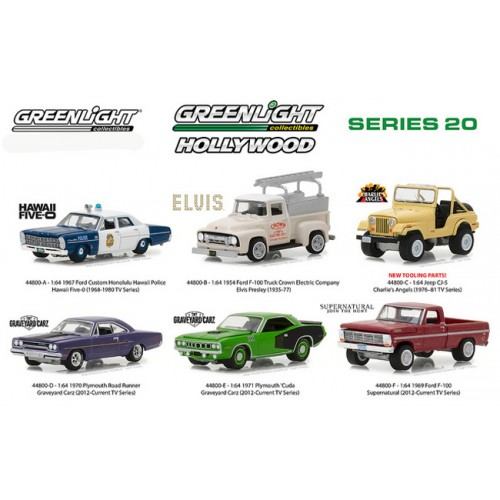 Greenlight Hollywood Series 20 - Six Car Set