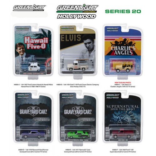 Greenlight Hollywood Series 20 - Six Car Set