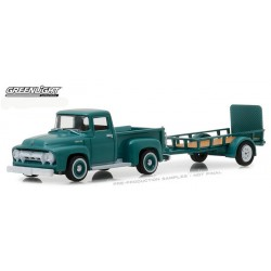 Greenlight Hitch and Tow Series 13 - 1954 Ford F-100 and Utility Trailer