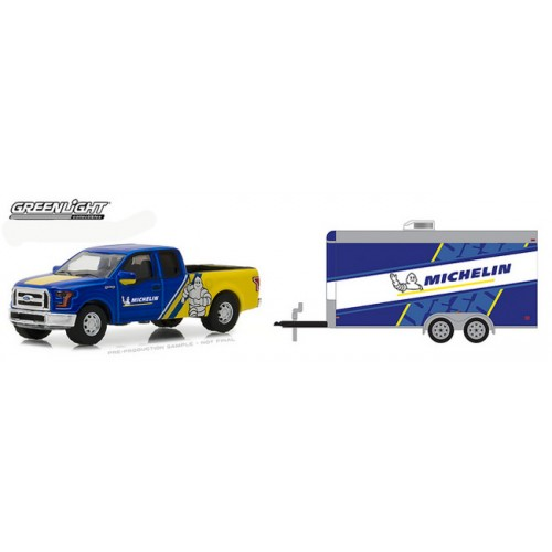 Greenlight Hitch and Tow Series 13 - 2016 Ford F-150 and Racing Trailer