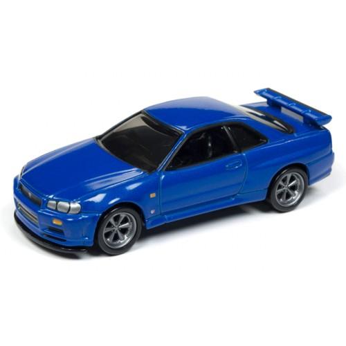 Johnny Lightning Classic Gold 1999 Nissan Skyline GT-R (R-34)