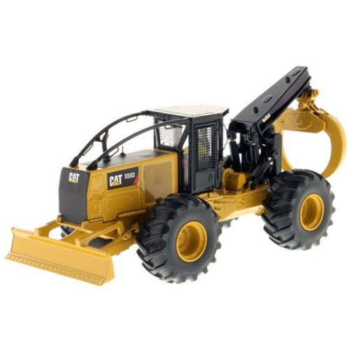 Diecast Masters CAT 555D Wheel Log Skidder with Grapple