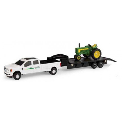 John Deere 530 Tractor with Ford Truck and Trailer