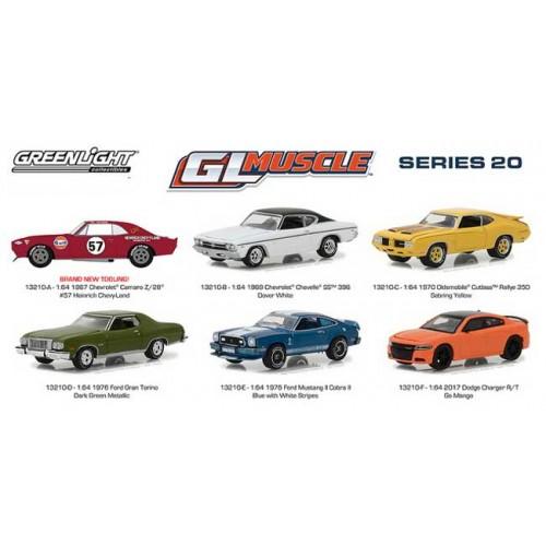 GL Muscle Series 20 - Six Car Set