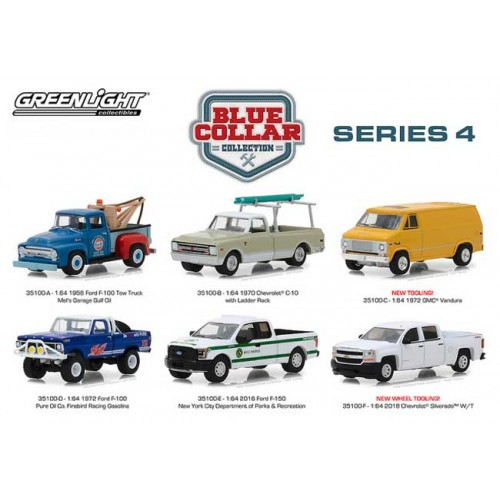 Blue Collar Series 4 - Six Truck Set