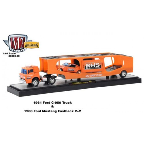 M2 Auto-Haulers Series 30 - 1964 Ford C-950 Truck with 1968 Ford Mustang