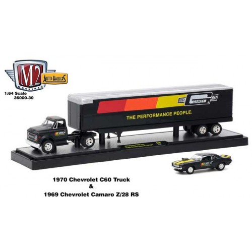 M2 Machines Auto-Haulers Release 30 - 1970 Chevy C-60 and 1968 Chevy Camaro