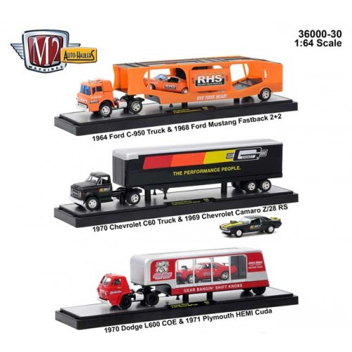 M2 Machines Auto-Haulers Release 30 - Three Truck Set