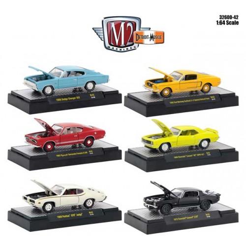 M2 Machines Detroit Muscle Release 42 - Six Car Set