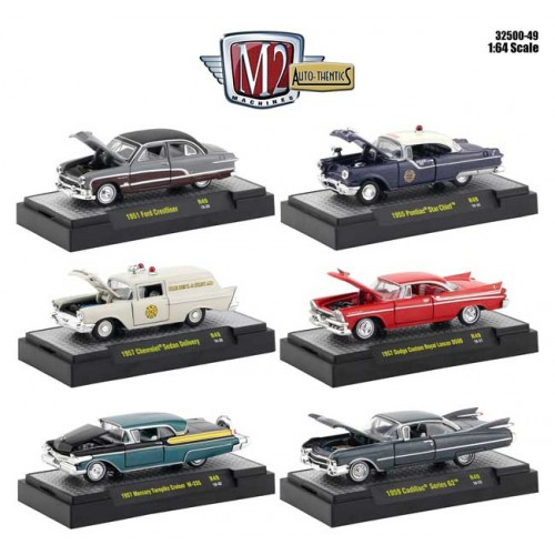 M2 Machines Auto-Thentics Release 49 - Six Car Set