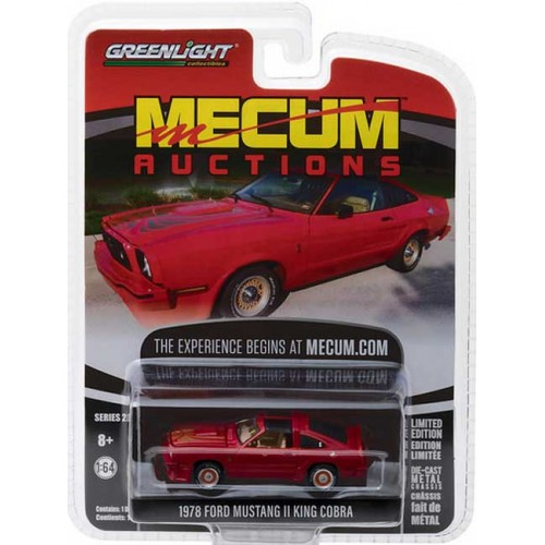 Greenlight Mecum Auctions Series 2 - 1978 Ford Mustang II King Cobra