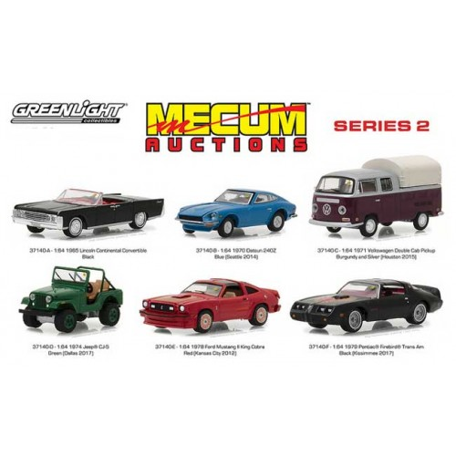 Greenlight Mecum Auctions Series 2 - Six Car Set