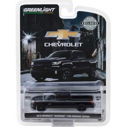 Greenlight Hobby Exclusive - 2018 Chevrolet Silverado 1500 Midnight Edition