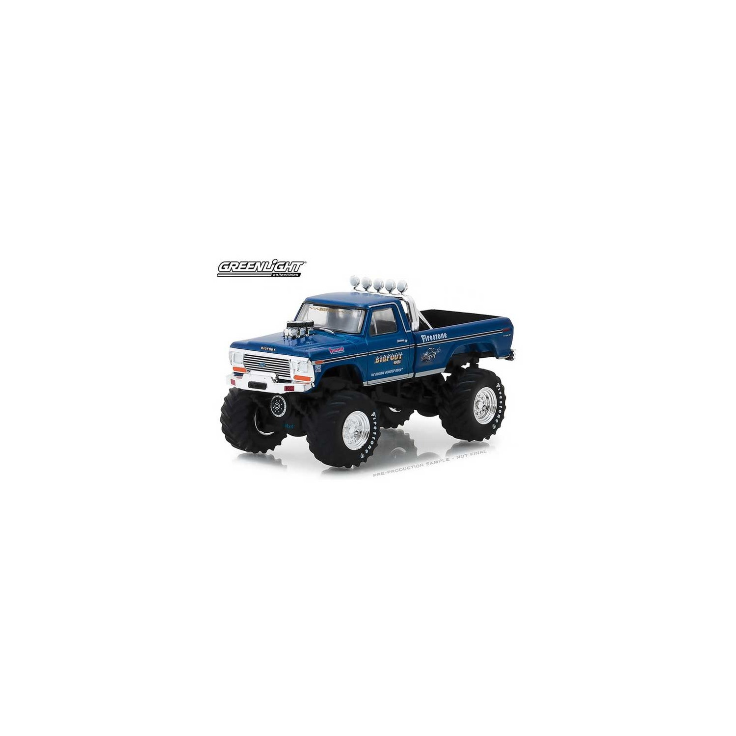 Greenlight Hobby Exclusive 1974 Ford F 250 Monster Truck Bigfoot Toy