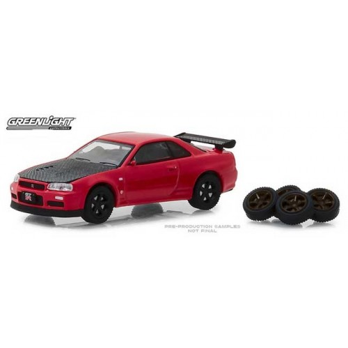 Greenlight The Hobby Shop Series 4 - 2002 Nissan Skyline GT-R (R34)