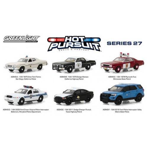 Greenlight Hot Pursuit Series 27 - Six Car Set