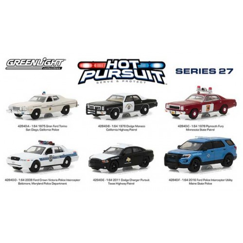 Greenlight Hot Pursuit Series 27 - Six Car Set