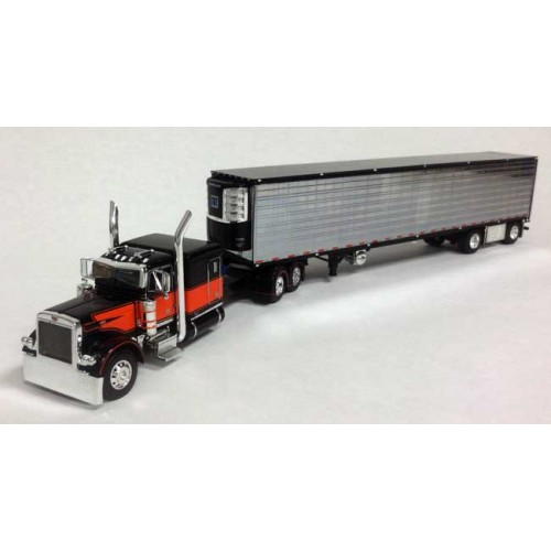 DCP Peterbilt 379 with Spread Axle Chrome Refrigerated Trailer