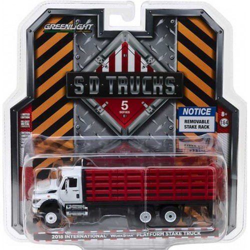 Greenlight SD Trucks Series 5 - 2018 International WorkStar Platform Stake Truck