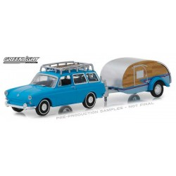 Greenlight Hitch and Tow Series 14 - 1961 Volkswagen Type 3 with Tear Drop Trailer