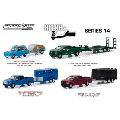 Greenlight Hitch and Tow Series 14 - SET