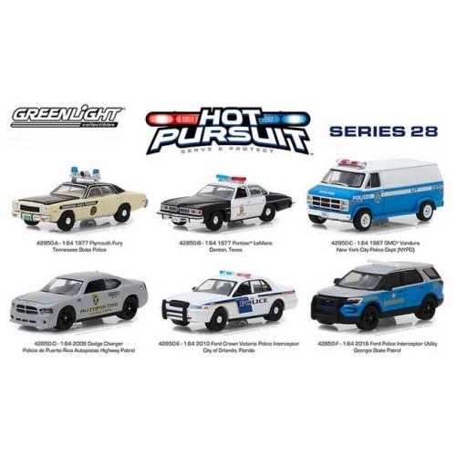 Greenlight Hot Pursuit Series 28 - Six Car Set