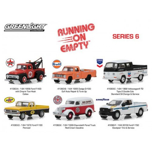 Greenlight Running on Empty  Series 6 - Six Car Set