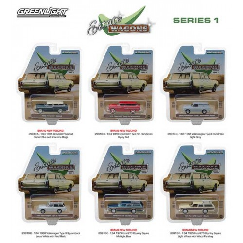 Greenlight Estate Wagons Series 1 - Six Car Set