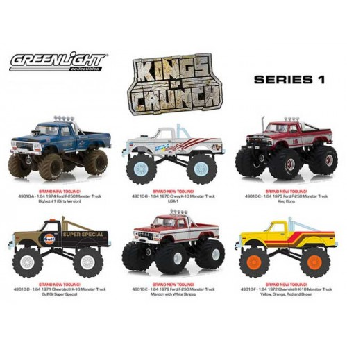 Greenlight Kings of Crunch Series 1 - Six Truck Set