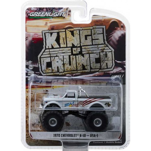 Greenlight Kings of Crunch Series 1 - 1970 Chevy K-10 Monster Truck USA-1