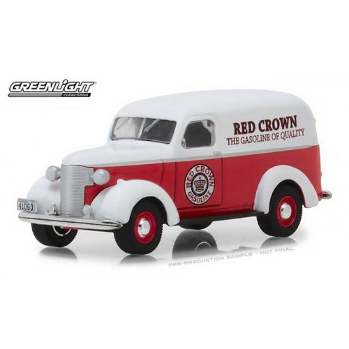 Greenlight Running on Empty Series 6 - 1939 Chevy Panel Truck Red Crown
